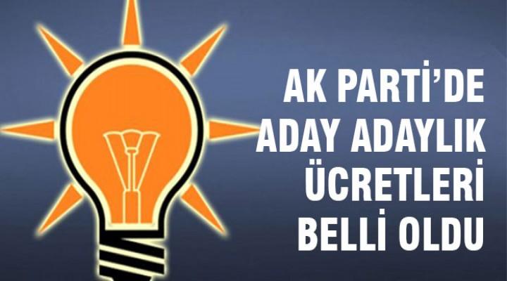 AK Parti'de aday adaylığı başvuru ücretleri belli oldu