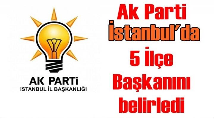 Ak Parti İstanbul'da 5 İlçe Başkanını belirledi