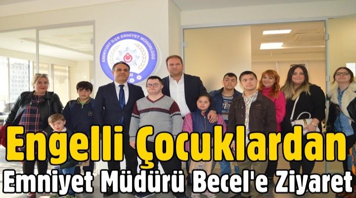 Engelli çocuklar Esenyurt Emniyet Müdürü'nü ziyaret etti
