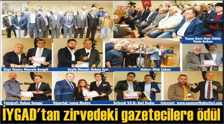 İYGAD'tan zirvedeki gazetecilere ödül