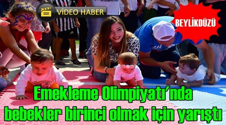 Emekleme Olimpiyatı'nda bebekler birinci olmak için yarıştı