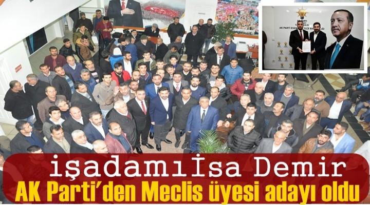 Demir, AK Parti'den Meclis üyesi adayı oldu