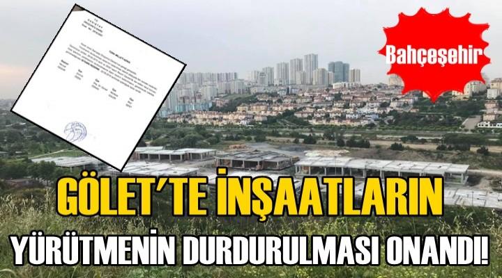 Bahçeşehir Göleti Katleden İnşaatlar Durduruldu..