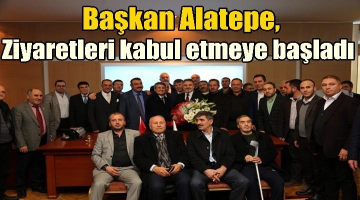 Başkan Alatepe, tebrik ve ziyaretleri kabul etmeye başladı