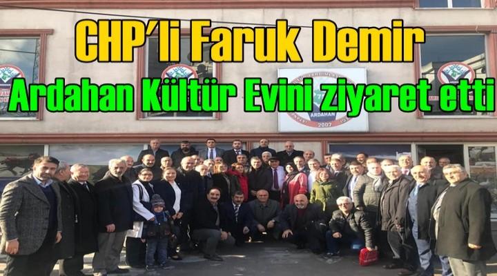 Faruk Demir,Ardahan Kültür Evini ziyaret etti