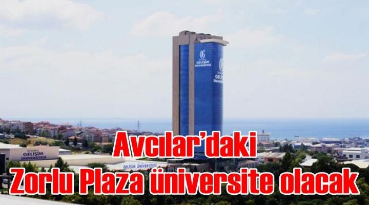 Avcılar'daki Zorlu Plaza üniversite olacak