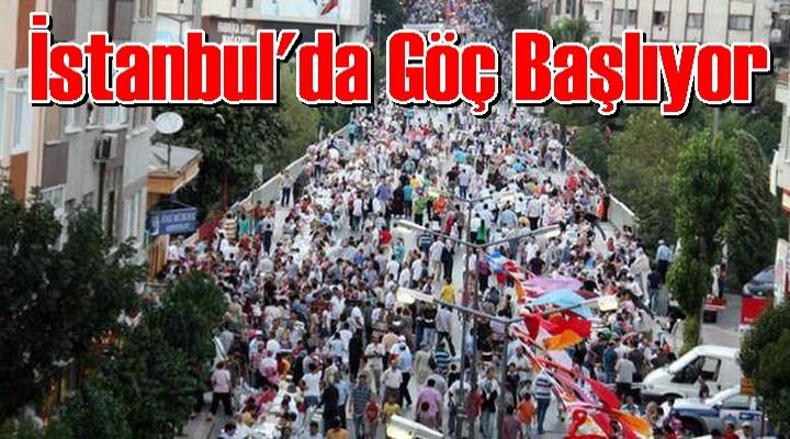 İstanbul'da Göç Başlıyor