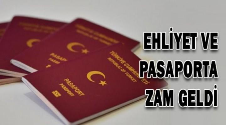 Ehliyet ve pasaporta zam