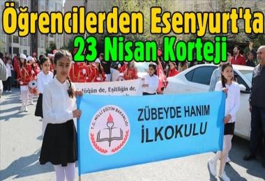 Öğrencilerden Esenyurt'ta 23 Nisan korteji