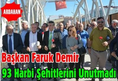 Başkan Demir 93 Harbi Şehitlerini Unutmadı