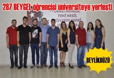 287 BEYGEL öğrencisi üniversiteye yerleşti