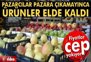 İstanbul'da Kar Sebze Meyveyi vurdu!
