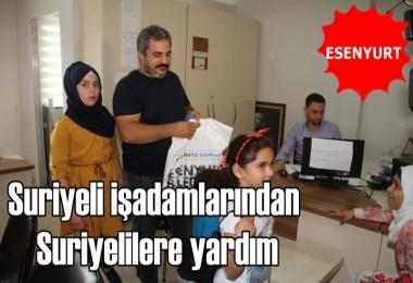 Suriyeli işadamlarından Suriyelilere yardım