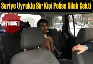 Polise silah çeken Suriyeli, kovalamaca sonucu yakalandı