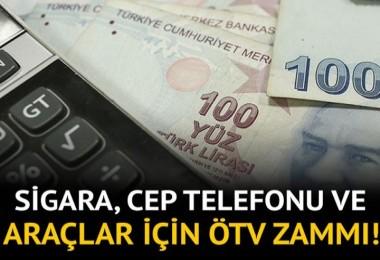 Sigara ve cep telefonunda vergiler yeniden düzenlendi