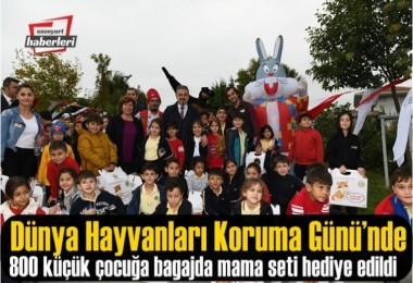 Başkan Alatepe Çocuklara 'bagajda mama setleri' hediye etti