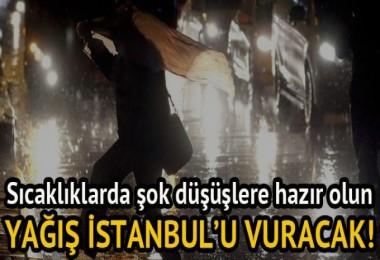 Yağış İstanbul'u Vuracak!