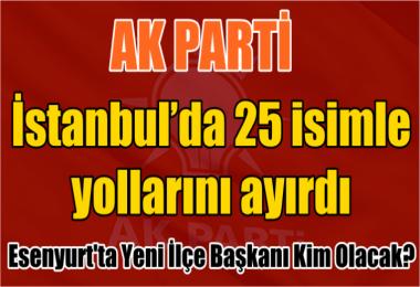 AK PARTİ İstanbul'da 25 isimle yollarını ayırdı