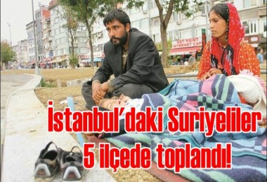 İstanbul'daki Suriyeliler 5 ilçede toplandı!