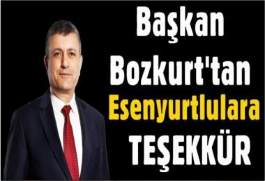 Başkan Bozkurt'tan Teşekkür