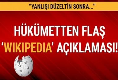 Bakan Arslan: Wikipedia'ya yanlışı düzeltin devam edin diyoruz