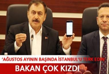Bakan'dan 'İstanbullular şehri terk etsin' açıklamasına tepki