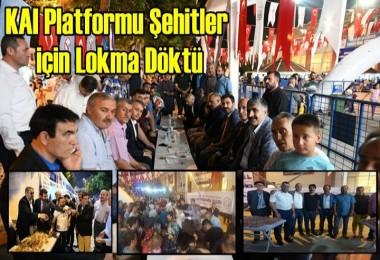 KAI Platformu Şehitler için Lokma Döktü