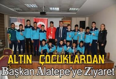 Altın Çocuklardan Başkan Alatepe'ye Ziyaret