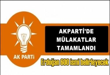 AK Parti'de mülakatlar tamam