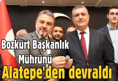 Bozkurt başkanlık mührünü Alatepe'den devraldı