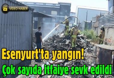 Esenyurt'ta yangın! Çok sayıda itfaiye sevk edildi