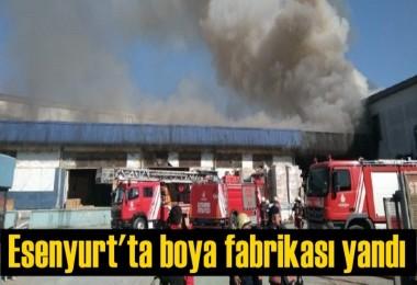 Esenyurt'ta boya fabrikası yandı