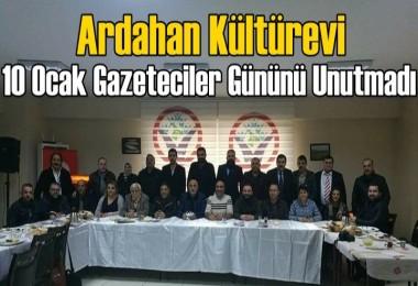 Ardahan Kültürevi 10 Ocak Gazeteciler Gününü Unutmadı