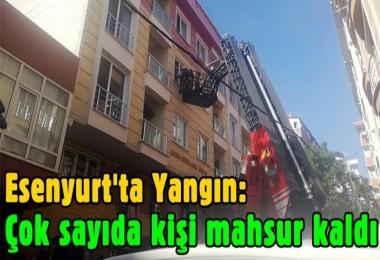 Esenyurt'ta yangın: Çok sayıda kişi mahsur kaldı