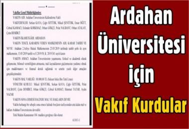 Ardahan Üniversitesi için Vakıf Kurdular