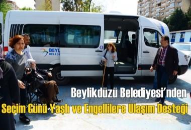 Beylikdüzü Belediyesi'nden Seçim Günü Yaşlı ve Engellilere Ulaşım Desteği
