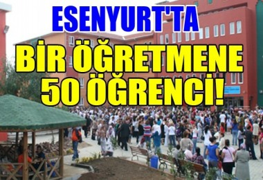 Bir Öğretmene 50 Öğrenci!