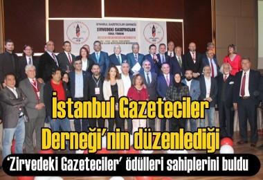 İGD düzenlediği 'Zirvedeki Gazeteciler' ödülleri sahiplerini buldu.