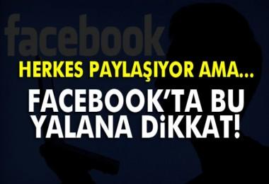 Facebook'ta  Resmileşti dikkat! yalanı!