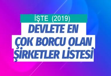 Türkiye'de Devlete En Çok Borçlu Şirketler Açıklandı