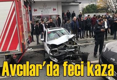 Avcılar'da feci kaza: 4 yaralı