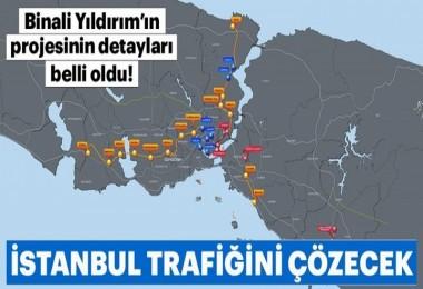 Binali Yıldırım'dan İstanbul trafiği için çok önemli proje!