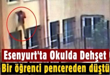 Esenyurt'ta Okuldan kaçmaya çalıştığı iddia edilen öğrenci pencereden düştü