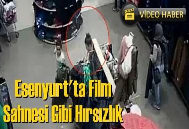 Esenyurt'ta Film Sahnesi Gibi Hırsızlık