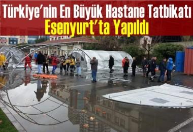 Türkiye'nin En Büyük Hastane Tatbikatı Yapıldı