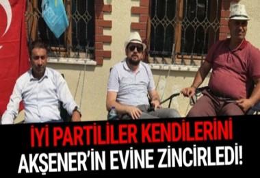 İyi Parti Esenyurt ilçe Başkanı kendisini Akşener'in evine zincirledi!