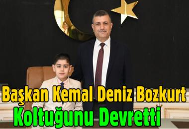 Başkan Kemal Deniz Bozkurt koltuğu devretti