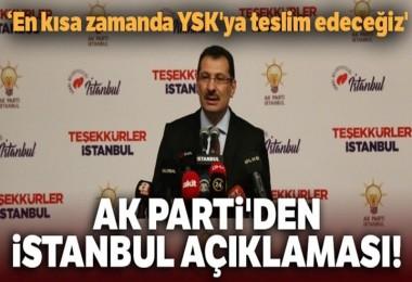 AKP'den İstanbul açıklaması!