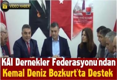 KAI Dernekler Federasyonu'ndan Kemal Deniz Bozkurt'ta Destek
