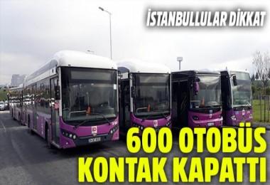 İstanbul'da halk otobüsleri kontak kapattı